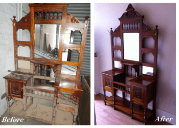Flood damage dresser restoration